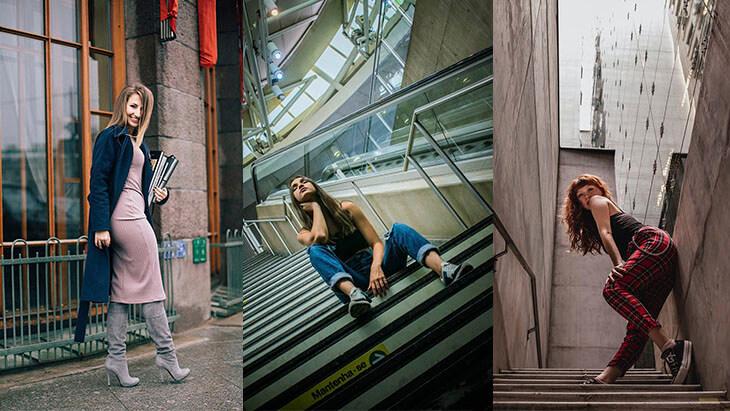 Идеи для фото на улице для Инстаграм
